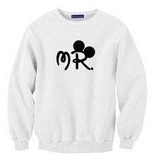męska bluza dla par zakochanych - bluza MR myszka mickey dla Niego - modna bl...