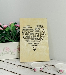 Drewniany Plakat 3D - Word ...