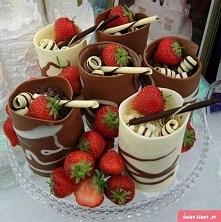 czekolada z truskawkami