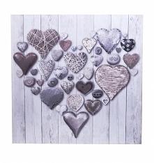 Obraz na ścianę serca