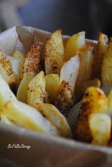 Odtłuszczone frytki z ziemniaków. Przepis po kliknięciu w zdjęcie.