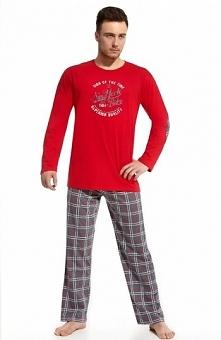 Cornette New York 2 124/38 piżama Komfortowa dwuczęściowa piżama, piżama w bi...