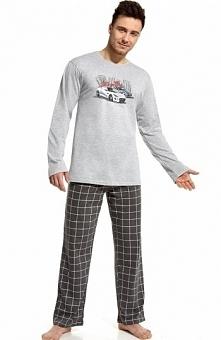 Cornette Lets go 124/40 piżama Wygodna dwuczęściowa piżama, bluzka z długim r...