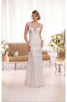 Essense of Australia All-Lace illusion Back Wedding Gown Style D2056