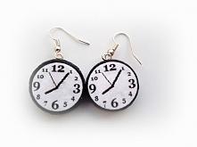 Kolczyki z korka - zegary