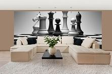 Fototapeta F082 - Figury na szachownicy