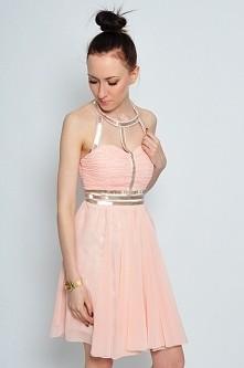krótka, szyfonowa sukienka