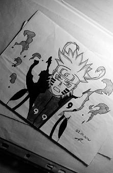 Naruto po złączeniu swojej chakry z kyubim :3