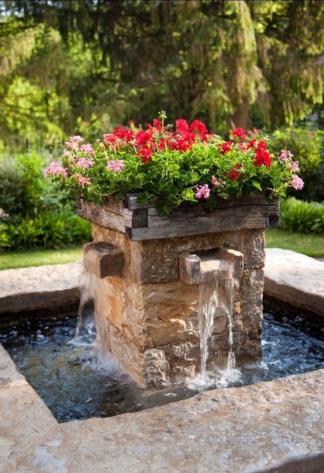 Kwiatowy element wodny