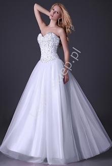 Suknia ślubna tiulowa wysad...