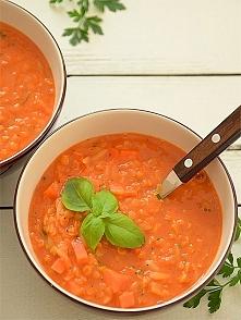Zupa pomidorowa z soczewicą...