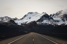 Road to mountains.