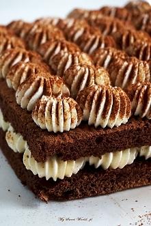 """Ciasto """"Tiramisu"""", przepis po kliknięciu w zdj."""