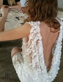 sukienka ślubna mini  instagram atelier_renata_potrzeba