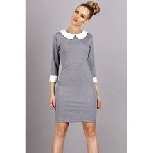 Elegancka szara sukienka uszyta przez producenta odzieży Makadamia. Model Makadamia M30 jest idealny dla Ciebie! Sukienka wykonana z dobrej jakości materiałów. Idealnie nadaje s...