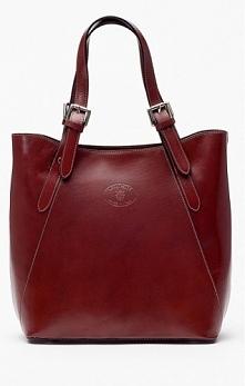 Klasyczna, skórzana shopper bag