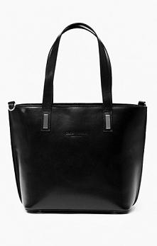 Torebka skórzana czarna, shopper bag