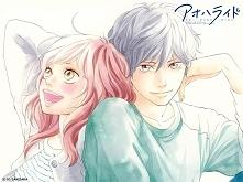 Ao Haru Ride OPIS: Pierwsza miłość na pewno zostaje w pamięci przez długi czas. Dotyczy to również głównej bohaterki, Futaby Yoshioki. W gimnazjum zakochała się bez pamięci w Ko...