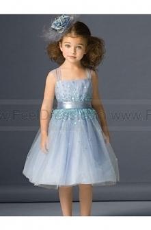 Blue Straps Beading Knee Length Discount Formal Girl Dress Hot