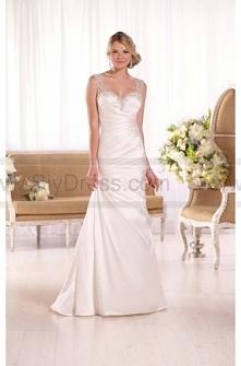 Essense of Australia Dolce Satin A-Line Wedding Gown Style D2071  $379  2016 wedding dress,cheap wedding dresses online,plus size wedding dresses,wedding dress for sale,wedding ...