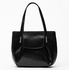 Czarna, skórzana torebka