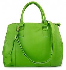 Zielona, duża torebka