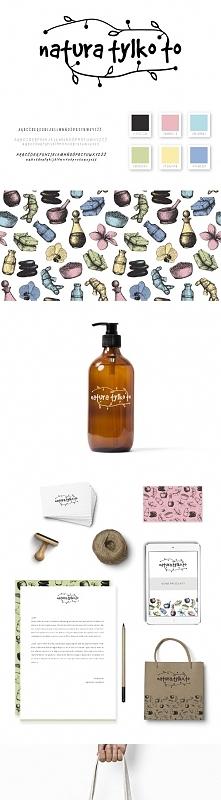 Identyfikacja wizualna dla sklepu z naturalnymi kosmetykami