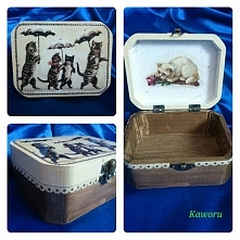 Małe pudełeczko w koteczki :)