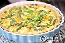 Tarta z warzywami Składniki: kruche ciasto: 210 g mąki jasnej pszennej 90 g masła (np. Kerrygold Tradycyjne Masło Irlandzkie) 1 jajko 25 ml wody 1/2 łyżeczki soli lub wedle uzna...