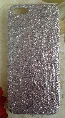 Srebrny brokat- iPhone 5/ 5s