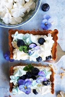 """PYSZNA TARTA """"BLUE"""" z konfiturą jagodową <3 przepis po kliknięciu w zdjęcie"""