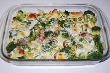 tortellini zapiekane z brokułem