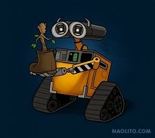 wall-e and groot <3