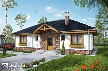 Filipek - funkcjonalny dom parterowy o tradycyjnej stylistyce.