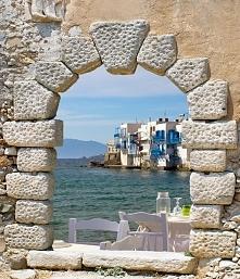 Fototapeta F6587 - Okno na Grecję