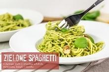 Spaghetti z pesto z orzechów włoskich