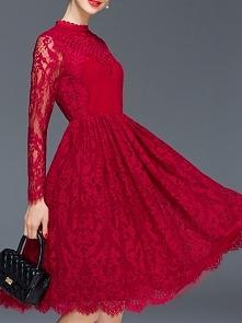 sukienka koronkowa w kolorze wina ♡ sklep → klik w zdjęcie!