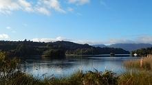 Oto nie dalekie jezioro z mojego domku w Nowej Zelandii