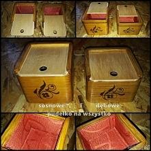 Na drobiazgi. Na prezent. Na co tylko chcesz! Pierwsze dwa drewniane pudełka ...