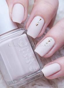 Delikatne, zimowe paznokcie ♥