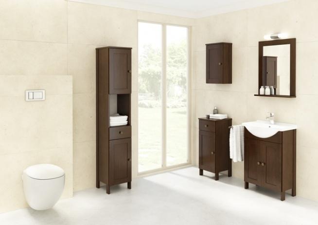 Klasyczne meble Madryt - idealne do łazienki w stylu rustykalnym i skandynawskim.