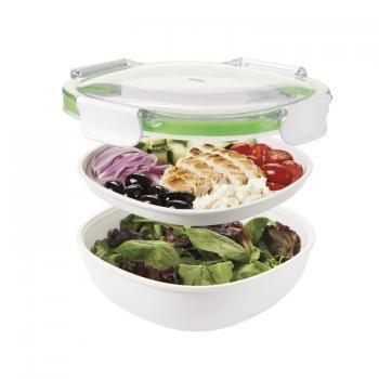 Pojemnik na obiad dwupoziomowy z pojemnikiem na sos ON-THE-GO (4 elementy)