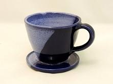 gliniany filtr do kawy, dripper ręcznie toczony na kole garncarskim garncarstwo-wadowice.pl