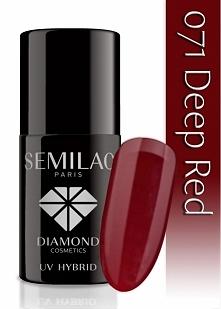 Lakier hybrydowy Semilac 071 Deep Red - 7 ml   Lakier hybrydowy SEMILAC® łączący w sobie właściwości żelu UV i lakieru do paznokci. Najwyższa technologia produkcji lakieru hybry...