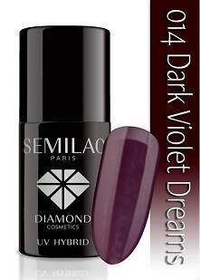 przepiękny fioletowo-burgundowy lakier hybrydowy semilac <3