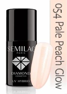 Lakier hybrydowy Semilac 054 Pale Peach Glow - TRANSPARENTNY