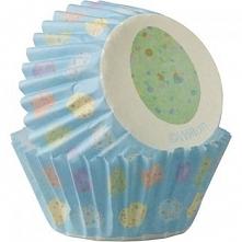 Papilotki do minimuffinów kolorowe pisanki (100 szt. w opakowaniu)