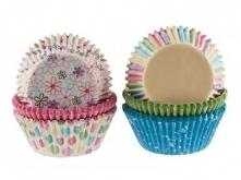 """Papilotki do muffinów """"pastelowe wzory"""" (150 sztuk)"""