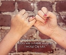 """""""Przyjaciel to człowiek, który wie o Tobie wszystko i wciąż Cię lubi.&qu..."""
