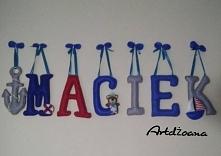 Moje własnoręcznie wykonane literki :)